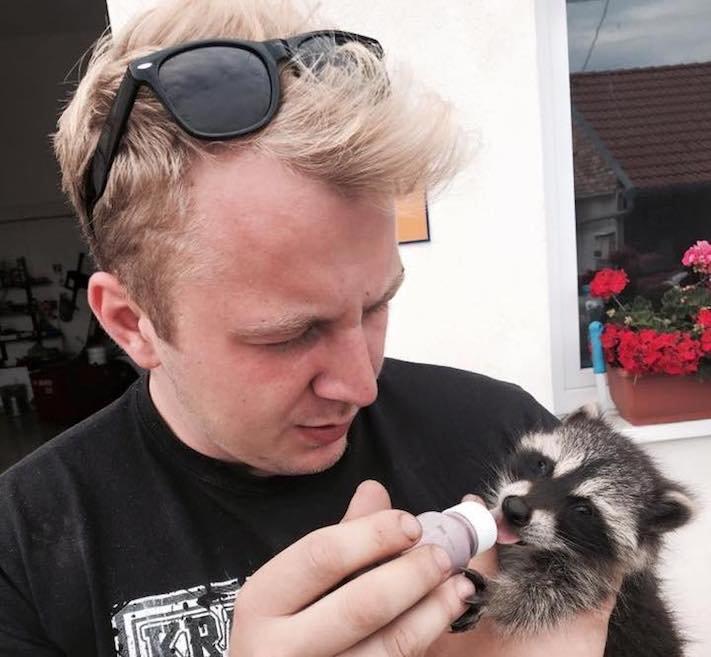 mládě mývala mýval mývalčata mývalče pes se psem v české republice čr adopce chov chování_12