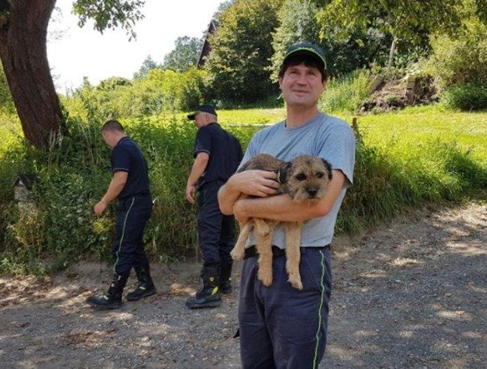 záchrana psa a lišky v českém ráji úspěšná záchránná akce vysvobození psa z nory 3