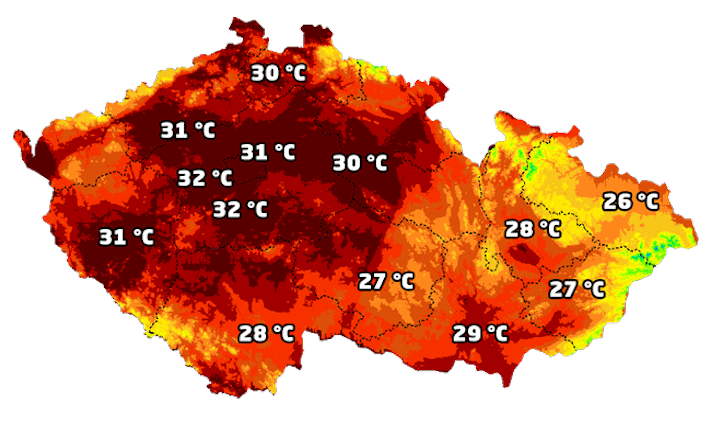 vysoká teplota vzduchu u psů pes a horko horké počasí rady tipy obrázky