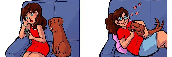 Jak se vidíte Vy vs. jak Vás vidí pes? (10+ zábavných ilustrací)