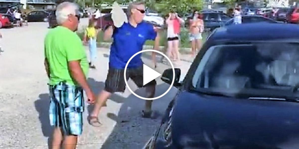 Muž rozbil okno BMW, aby vysvobodil uvězněného psa