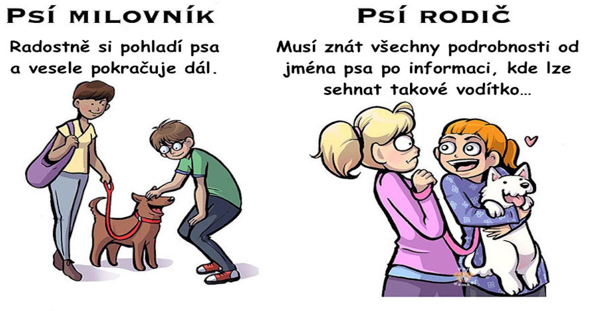7 rozdílů mezi milovníky psů a rodiči psů