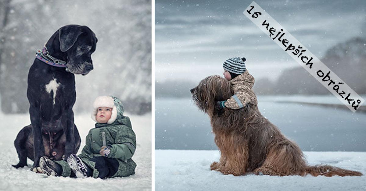 Malé děti a jejich velcí psi ❤