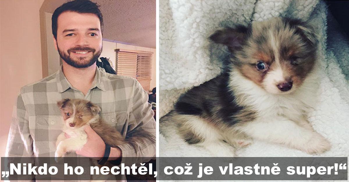 Tenhle muž vidí jen na jedno oko, a tak si koupil jednookého psa, kterého nikdo jiný nechtěl