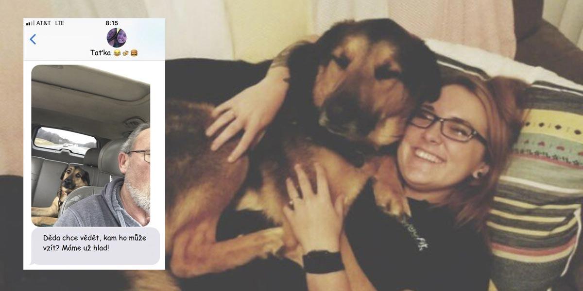 Žena nechala svého psa samotného s tátou, přijaté SMS jí udělaly obrovskou radost