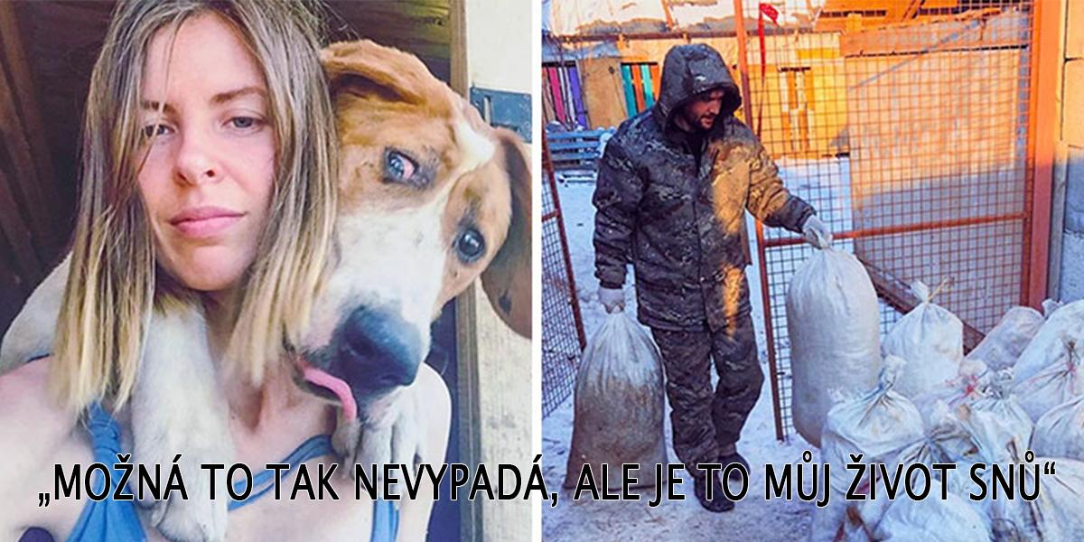 Slavná ruská fotografka ukončila kariéru, aby mohla žít na venkově se 100+ nemocnými psy