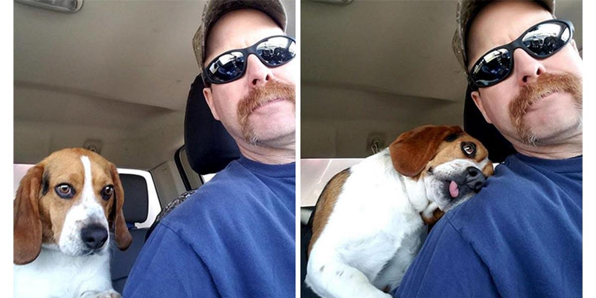 Zachránil bígla před eutanázií, ten ho nepřestává objímat