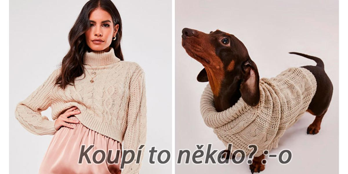 První firma na světě, která začala vyrábět svetry pro psy a pejskaře, které ladí