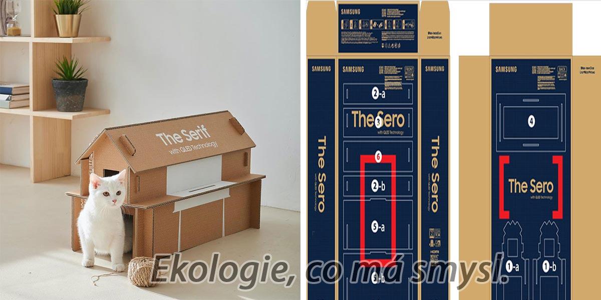 Nové poštovní krabice na televize, které můžete po rozbalení použít jako boudu pro psa nebo kočku