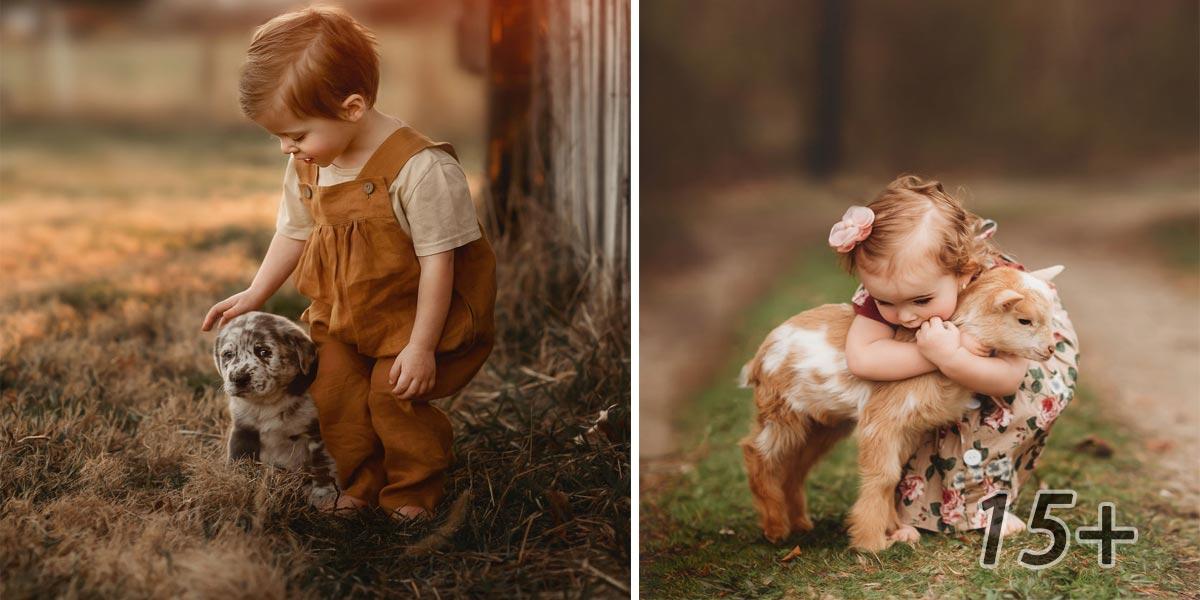 Fotím nezapomenutelné okamžiky dětí s jejich zvířaty